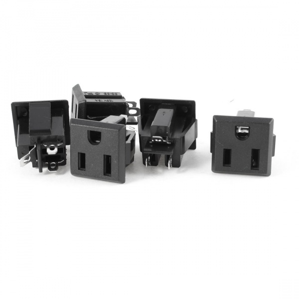 File:Amazon uxcell 5pcs 125V 15A 3-pin Panel Mount Power Outlets Stock Photo.jpg