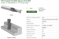 Square end mill from McMaster-Carr.